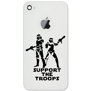 "Support the Troops Stormtroopers 2"" Vinyl Sticker Cell Phone Decal"