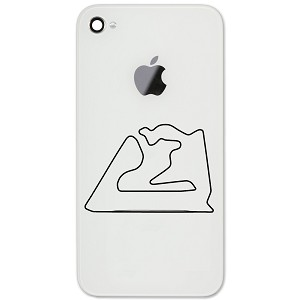 "Bahrain International Circuit Track Map 2"" Vinyl Sticker Cell Phone Decal"