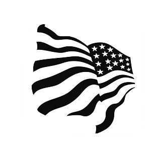 Patriotic Waving American USA Flag Vinyl Sticker Car Decal
