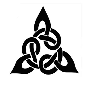 Triangular Celtic Cross Knot Vinyl Sticker Car Decal