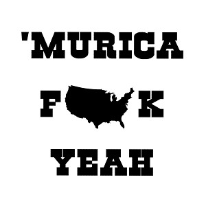 Funny Patriotic Murica F*ck Yeah Vinyl Sticker Car Decal