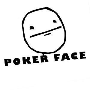JDM Funny Poker Face Cartoon Meme Vinyl Sticker Car Decal