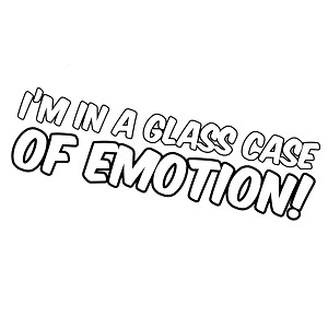Funny Ron Burgundy Quote I'm in a Glass Case of Emotion Vinyl Sticker Car Decal