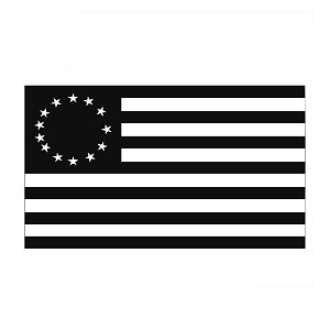13 Colonies Vintage American Flag Vinyl Sticker Car Decal