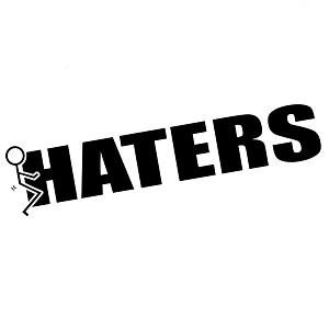 Funny Humping Stick Figure F*ck Haters Vinyl Sticker Car Decal