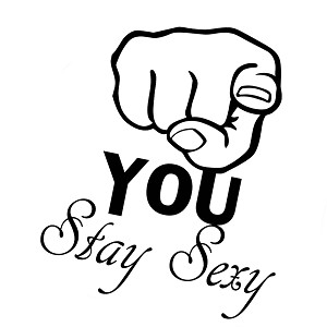 You Stay Sexy Funny Pointing Hand Vinyl Sticker Car Decal
