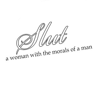 Funny Slut Definition Morals Vinyl Sticker Car Decal