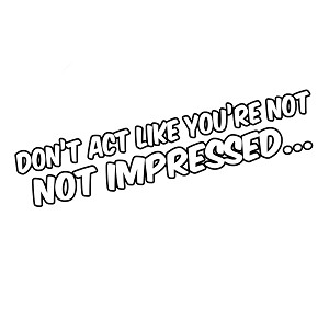 Ron Burgundy Quote Don't Act Like You're Not Impressed Vinyl Sticker Car Decal