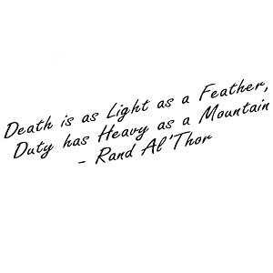 Death is Light as a Feather Quote Vinyl Sticker Car Decal