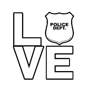I Love the Police Vinyl Sticker Car Decal