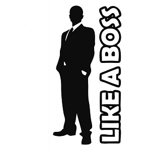 Like a Boss Guy Silhouette Vinyl Sticker Car Decal