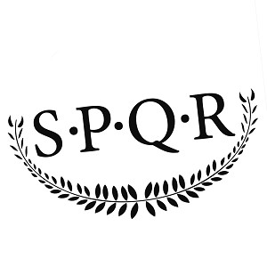 SPQR Roman Strength and Honor Vinyl Sticker Car Decal