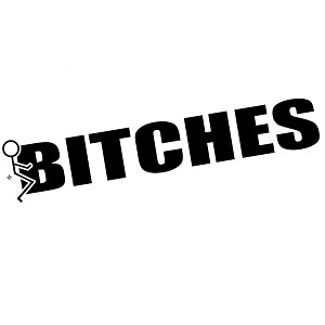 Funny Humping Stick Figure F*ck Bitches Vinyl Sticker Car Decal