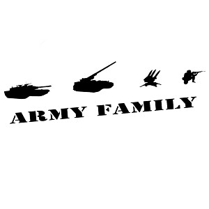 Army Family Military Silhouette Vinyl Sticker Car Decal