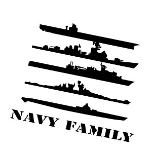 Navy Family Ships Military Vinyl Sticker Car Decal