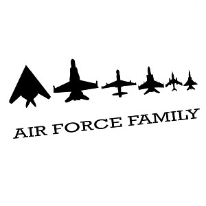 Air Force Family Planes Military Vinyl Sticker Car Decal