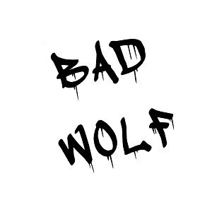 Dripping Graffiti Bad Wolf Vinyl Sticker Car Decal