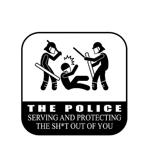 Police Protecting and Serving the Sh*t Out of You Funny Vinyl Sticker Car Decal