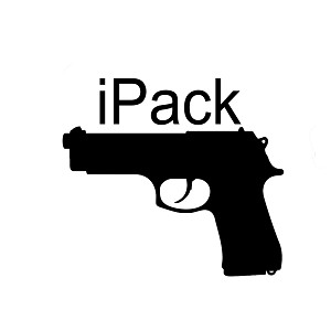 iPack Handgun Funny Firearm Vinyl Sticker Car Decal