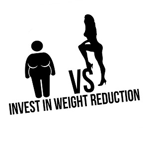Invest in Weight Reduction Sexy Girl Funny Vinyl Sticker Car Decal