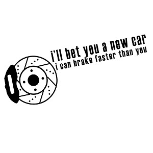 Funny JDM Brake Faster Than You Vinyl Sticker Car Decal