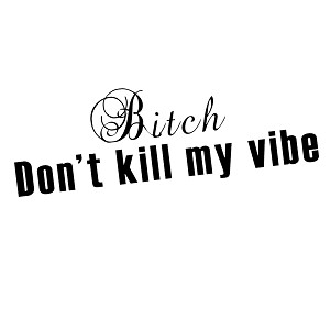 JDM Script Bitch Don't Kill My Vibe Vinyl Sticker Car Decal