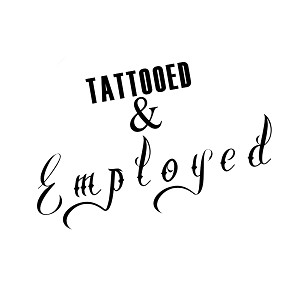 Tattooed and Employed Body Mods Vinyl Sticker Car Decal