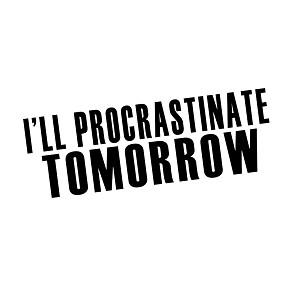 I'll Procrastinate Tomorrow Funny Vinyl Sticker Car Decal