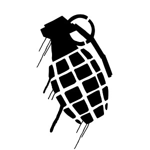 Dripping Grenade Weapon Silhouette Vinyl Sticker Car Decal