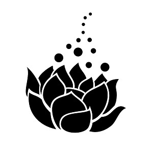 Lotus Flower Silhouette Pretty Vinyl Sticker Car Decal