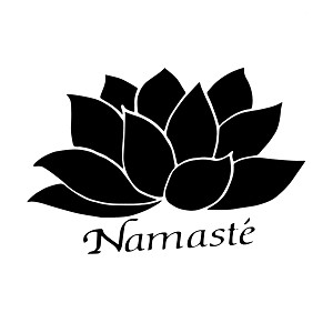 Namaste Lotus Flower Peace Vinyl Sticker Car Decal