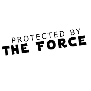 Protected By the Force Vinyl Sticker Car Decal