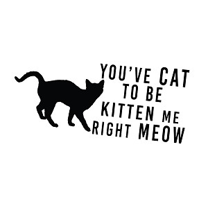 Cat to Be Kitten Me Funny Vinyl Sticker Car Decal