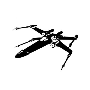 X-Wing Silhouette Vinyl Sticker Car Decal