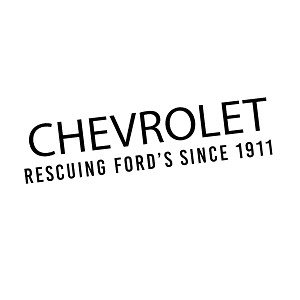 Funny Chevrolet Rescuing Fords Trucks Vinyl Sticker Car Decal