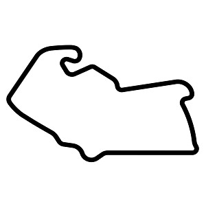 Silverstone Circuit Track Map Vinyl Sticker Car Decal