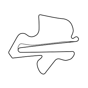 Sepang International Circuit Track Map Vinyl Sticker Car Decal
