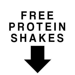 Free Protein Shakes Funny Work Out Whey Vinyl Sticker Car Decal