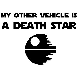 My Other Vehicle is a Death Star Vinyl Sticker Car Decal