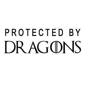 Protected By Dragons Vinyl Sticker Car Decal