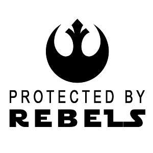 Protected By Rebels Alliance Vinyl Sticker Car Decal