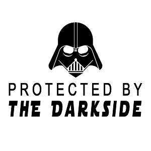 Protected By the Darkside Darth Vader Vinyl Sticker Car Decal