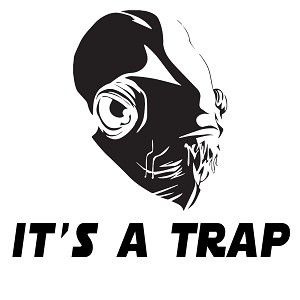 It's a Trap Admiral Ackbar Vinyl Sticker Car Decal