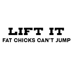 Funny Lift it  Truck Jeep Fat Girls Can't Jump Lift Kit Vinyl Sticker Car Decal