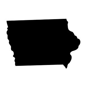 Iowa State Silhouette Vinyl Sticker Car Decal