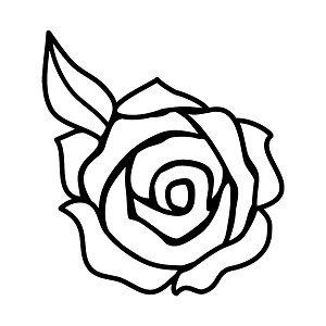Rose Flower Silhouette Vinyl Sticker Car Decal_p_8236