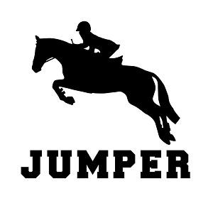 Jumper Horse Equestrian Silhouette Sports Vinyl Sticker