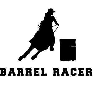 Barrel Racer Western Horse Silhouette Sports Vinyl Sticker
