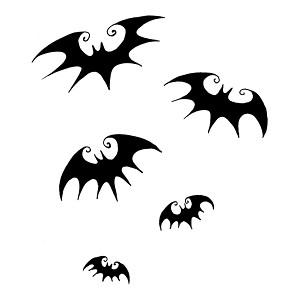 Flying Bats Silhouette Halloween Vinyl Sticker Car Decal