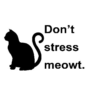 Funny Cat Don T Stress Meowt Vinyl Sticker Car Decal